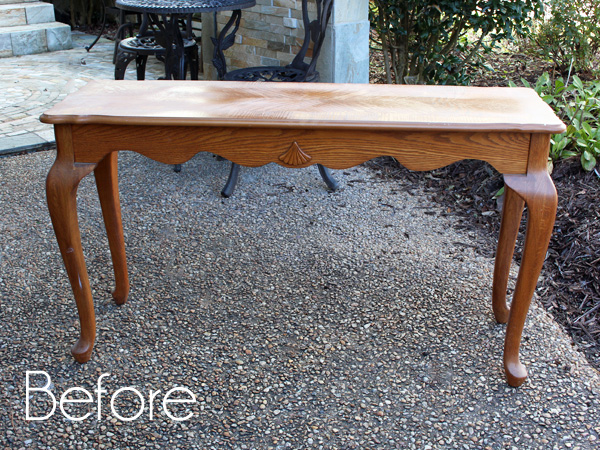Sofa Table Before