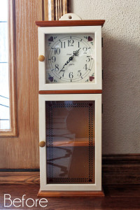 Clock Cabinet Before