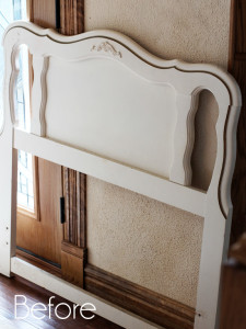 Repurposed French Provincial Headboard