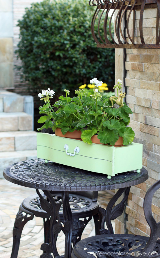 Here's how you can easily turn an old drawer front into a fun planter from Confessions of a Serial Do-it-Yourselfer