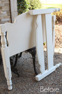 Farmhouse Headboard Bench