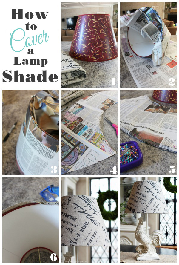 How to cover a lampshade from Confessions of a Serial Do-it-Yourselfer