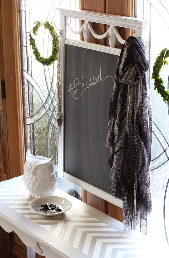 Replace a scratched mirror with chalkboard from Confessions of a Serial Do-it-Yourselfer