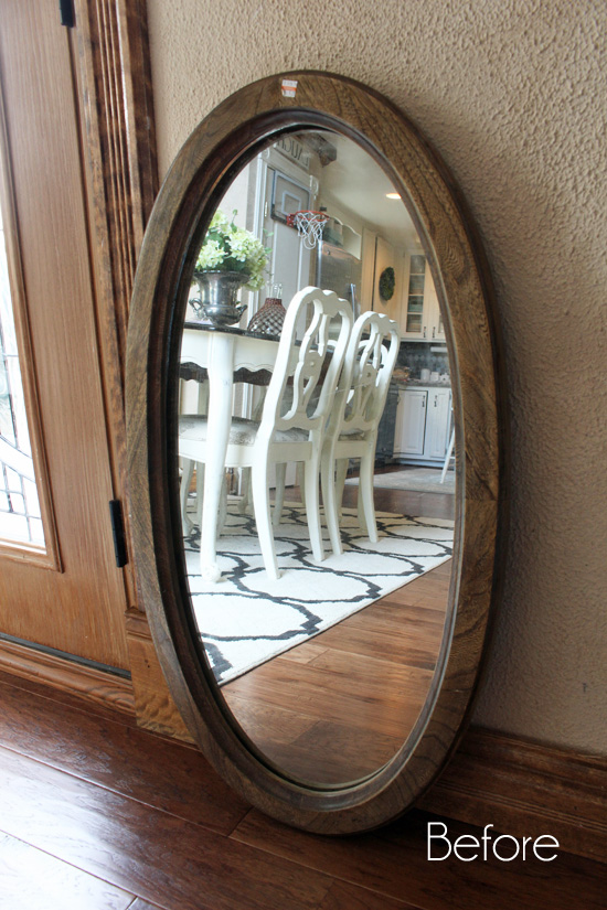 Oval rosette mirror before
