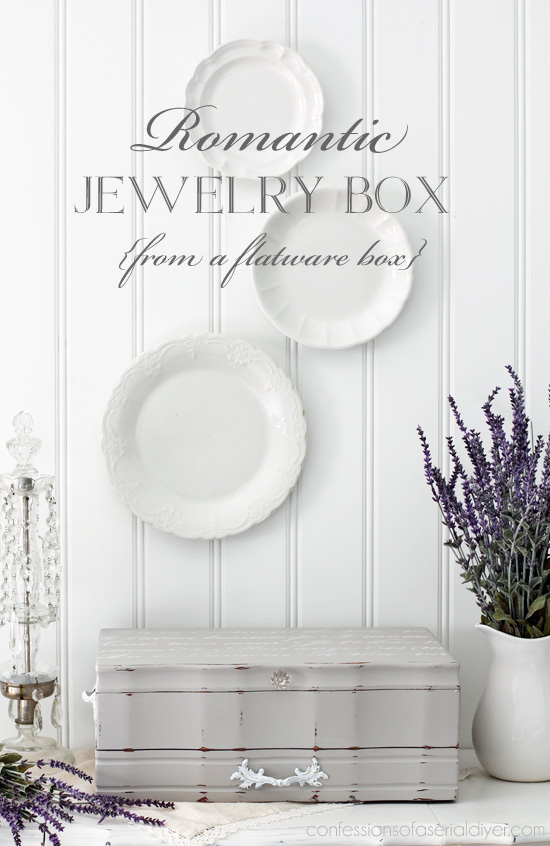 Romantic Flatware Box Makeover