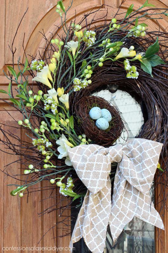 Spring bird nest wreath from Confessions of a Serial Do-it-Yourselfer