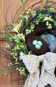 Spring Bird Nest Wreath from a $4 Thrift Store Find