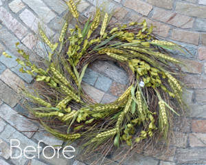 Spring Wreath Before