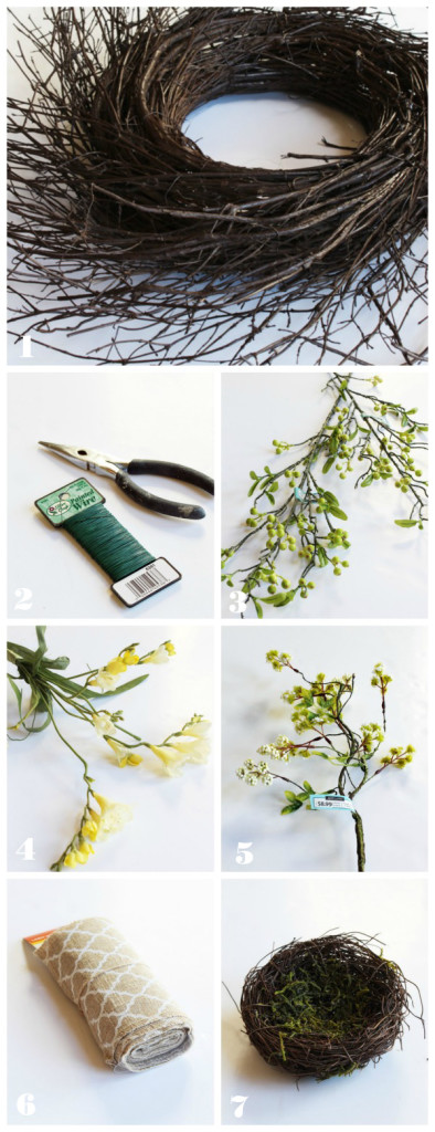 Spring wreath supplies
