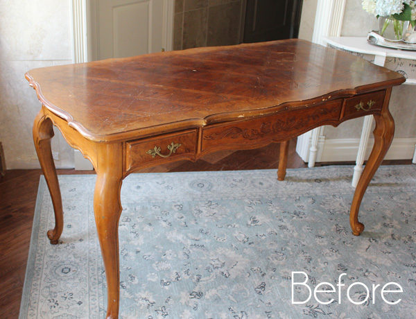 French Provincial Desk Makeover Confessions Of A Serial