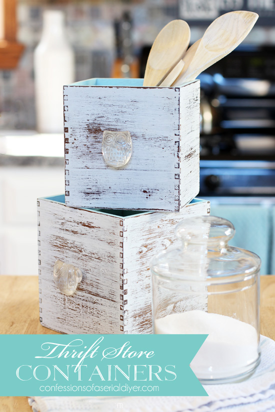 These thrift store boxes got an easy update. Confessions of a Serial Do-it-Yourselfer