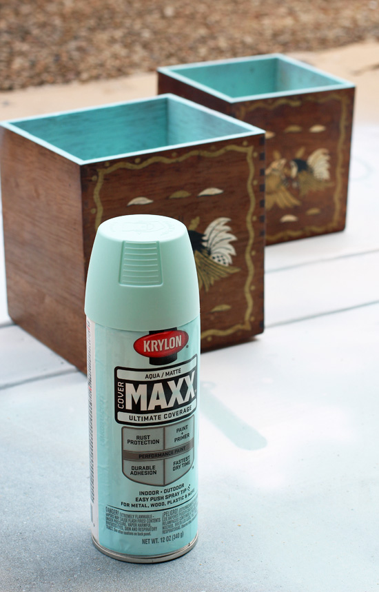 These thrift store boxes got an easy update with Krylon Aqua spray paint. Confessions of a Serial Do-it-Yourselfer