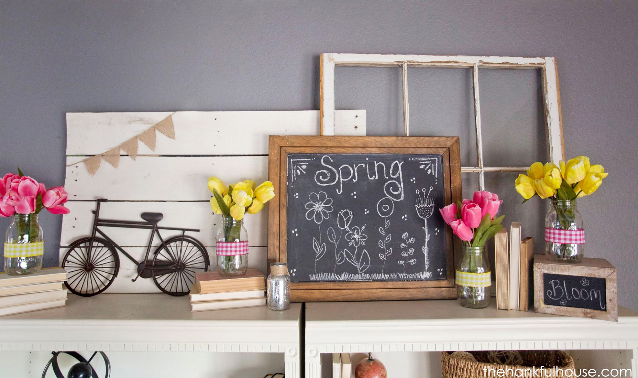 Tulip Spring Mantle from The Hankful House