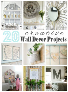 20 Creative Wall Décor Ideas {Get Your DIY On Features}