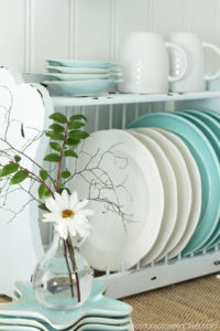 Plate Rack updated using petroleum jelly to distress from Confessions of a Serial Do-it-Yourselfer