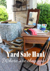Yard Sale Haul {Where are they now?}