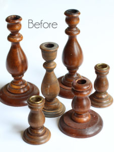 Coastal-Inspired Candlesticks from Thrift Store Throw Aways