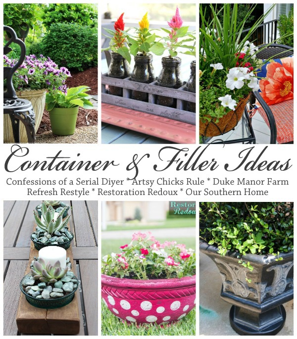 Decor Enthusiast Challenge May: Container and Filler Ideas