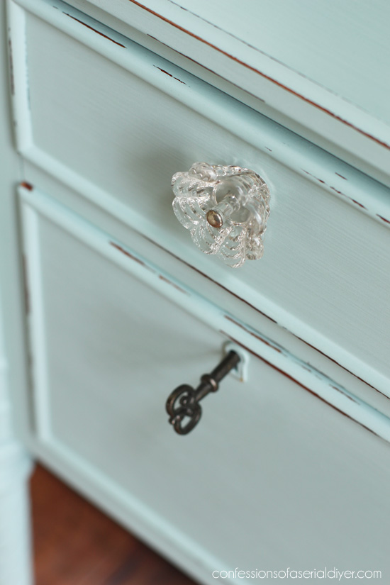 Glass knobs always add a charming cottage touch.