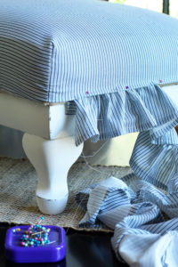 Sew Easy Footstool Cover