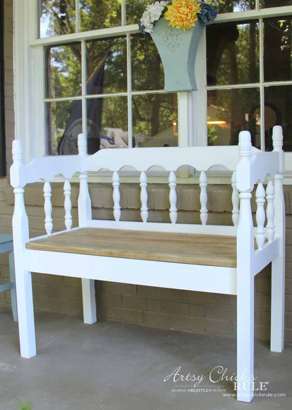 DIY Headboard Bench from Artsy Chicks Rule