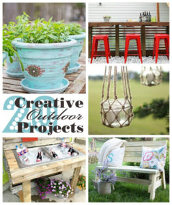 20 Creative Outdoor Projects from our Get Your DIY On Party