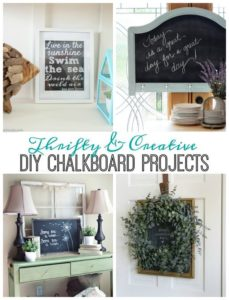 Thrifty and Creative DIY Chalkboard Projects