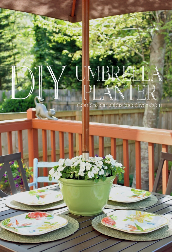 DIY Umbrella Planter