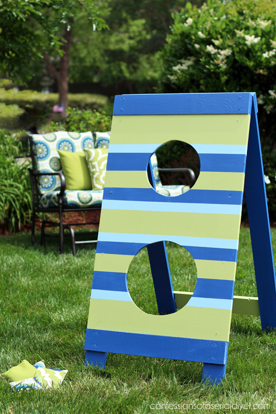 Father's Day Football Toss from Confessions of a Serial Do-it-Yourselfer and The Home Depot