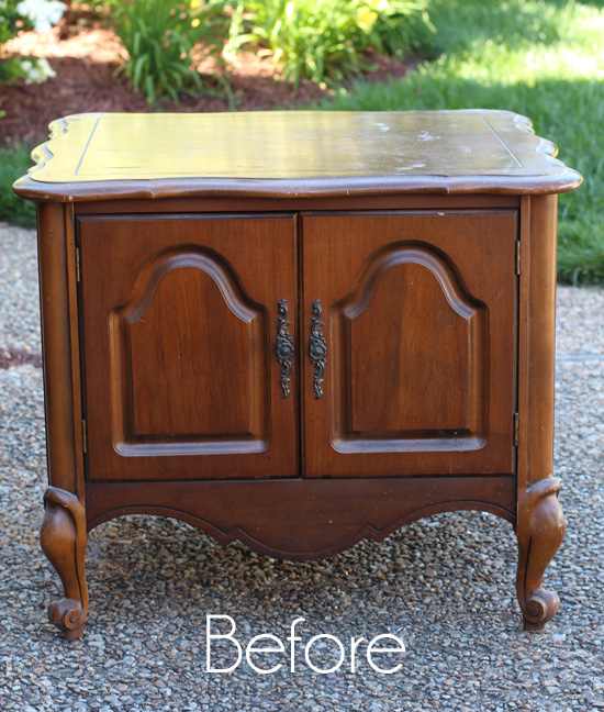 French Provincial End Table Before