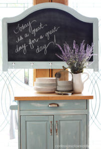 Turn an old headboard into a chalkboard. Confessions of a Serial Do-it-Yourselfer