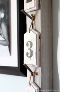 Take a Number {Fence Scrap Wall Décor}
