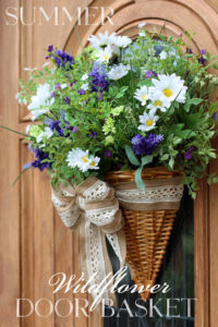 Summer Wildflower Door Basket