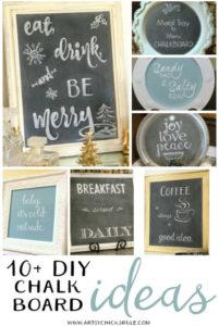 10 DIY Chalkboard Ideas from Artsy Chicks Rule