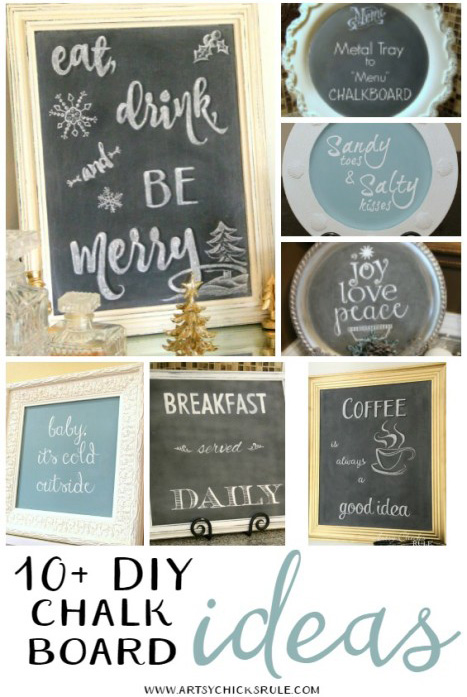 10 DIY Chalkboard Ideas from Artsy Chicks Rule