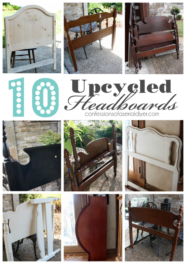 10 Upcycled Headboards from Confessions of a Serial Do-it-Yourselfer