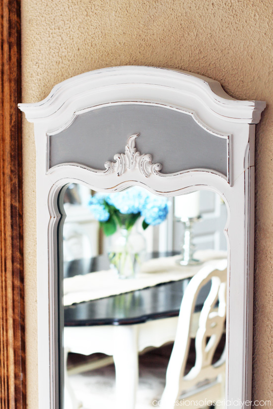 $6 Thrift Store Mirror Update from Confessions of a Serial Do-it-Yourselfer