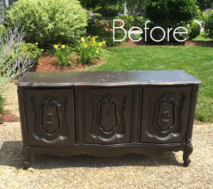 $5 Yard Sale Buffet Makeover