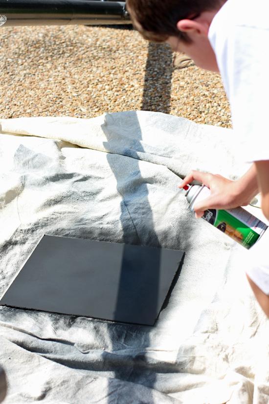 Rustoleum Chalkboard Spray Paint is my favorite!