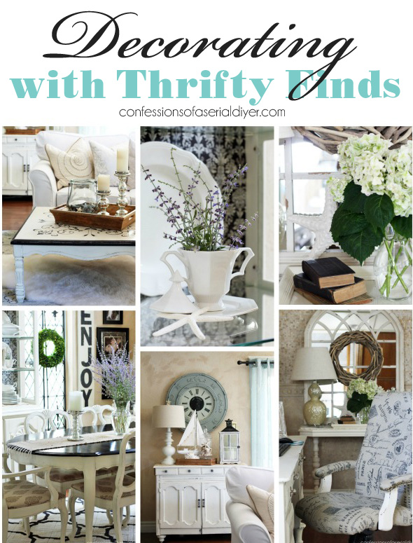 Scouring thrift stores, yard sales, and estate sales (oh and don't forget the side of the road!) to decorate on a BUDGET!