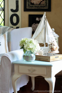 Grey Morning and Cottage White End Table from Confessions of a Serial Do-it-Yourselfer