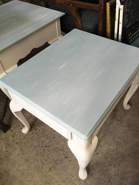 Duck-Egg-Blue-and-Cottage-White-End-Table-During-2
