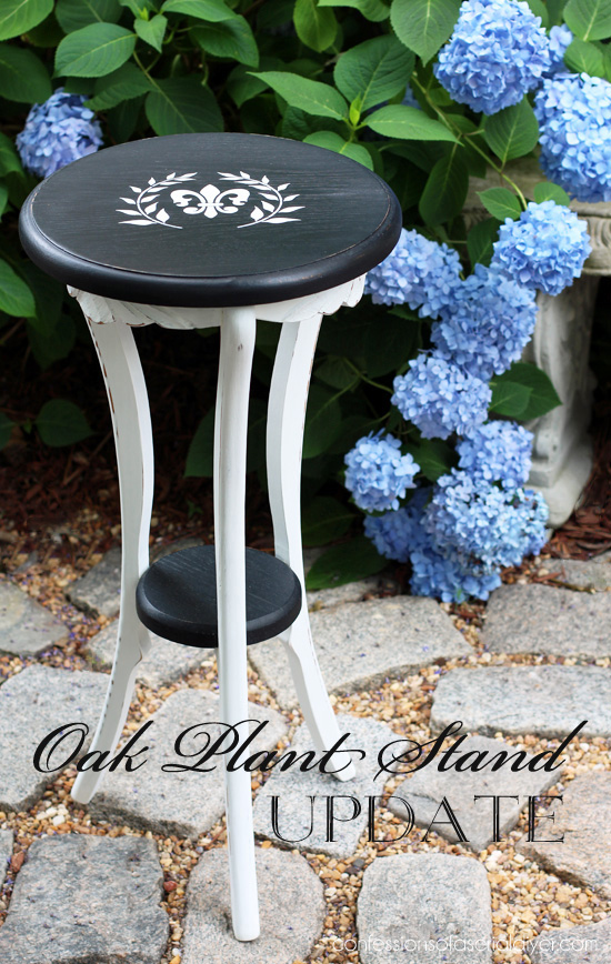 Oak Plant Stand Update from Jack at Confessions of a Serial Do-it-Yourselfer