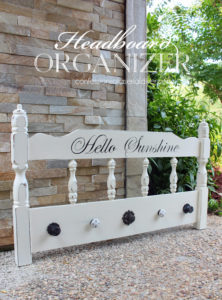 Coat rack made from an old headboard from Confessions of a Serial Do-it-Yourselfer