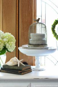 Thrifty Wooden Pedestal Bowls