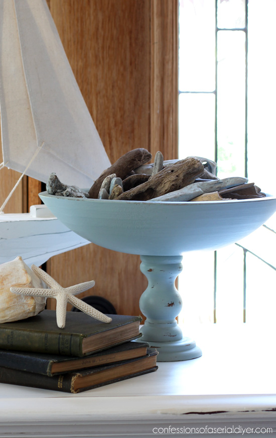 Wooden Pedestal Bowls made from thrift store parts from Confessions of a Serial Do-it-Yourselfer