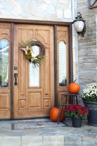 Fall Front Porch from confessionsofaserialdiyer.com