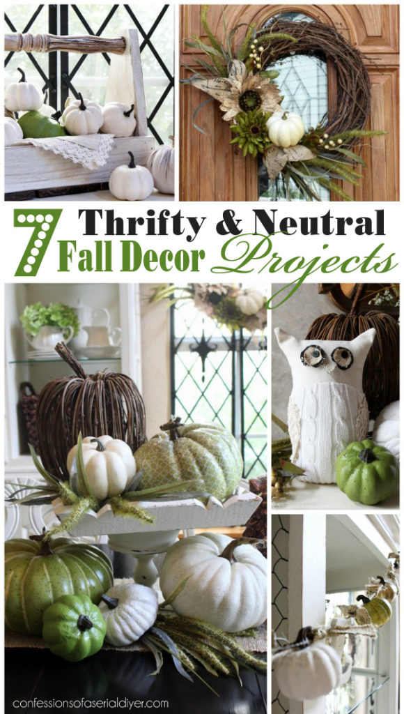 7 thrifty neutral fall d cor projects confessions of a for Thrifty decor
