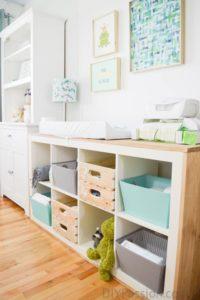 DIY Fabric Applique Storage Bins from DIY Passion