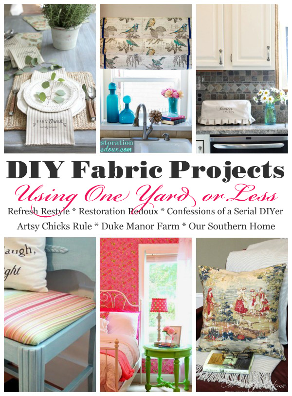 DIy Fabric Projects using one yard or less of fabric